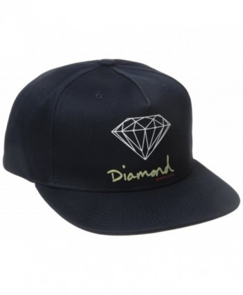 Diamond Supply Co Men's OG Script Brilliant Snapback - Navy - CN12BMIKAFT