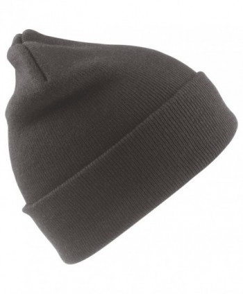Result Winter Essentials Wooly Thinsulate Ski Beanie Hat - Charcoal Grey - CK110WFNKUH