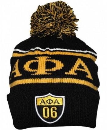 Alpha Phi Alpha Fraternity Mens Beanie - Black - CC12O0ZTVEY