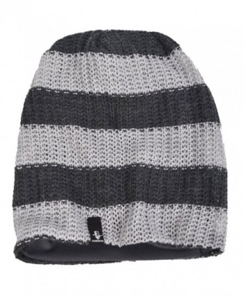 Beanie Slouchy Winter B5001 G Stripe Light