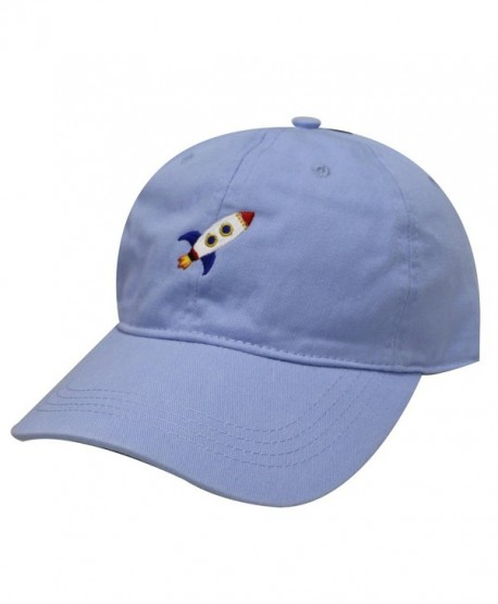 City Hunter C104 Rocket Cotton Baseball Dad Caps 17 Colors - Sky - C812O5LO5WY