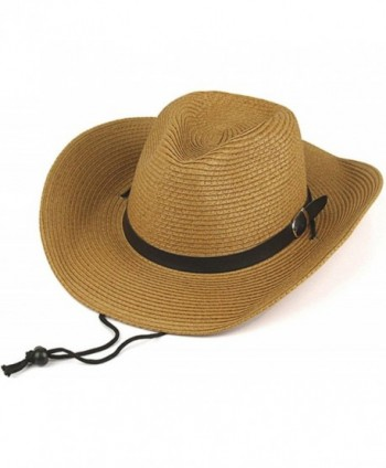 YOYEAH Panama Straw Fedora Beach Sun Hats Summer Short Brim Straw Fedora - Coffee - CR1820ED4NH
