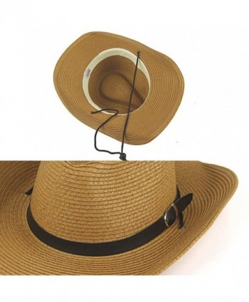 YOYEAH Panama Fedora Summer Coffee in Men's Fedoras