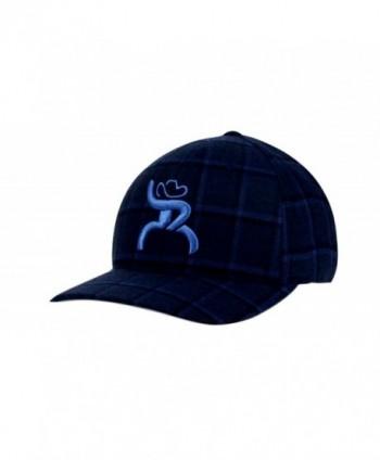 Hooey Slim Blue Plaid Flex Fit Structured Hat - 4312BKNV - CR1272SONIT