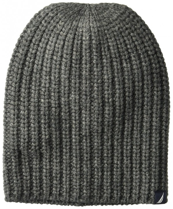 Nautica Men's Cardi Stitch Hat - Granite Heather - C1186NX8G8G
