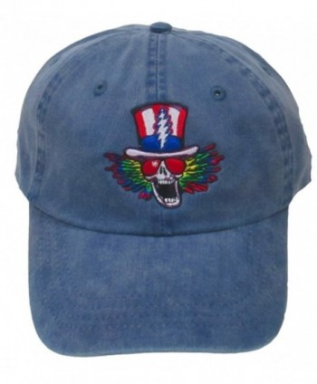 Grateful Dead Psycle Sam Embroidered Baseball Cap in Navy - CO12GSVX1TN