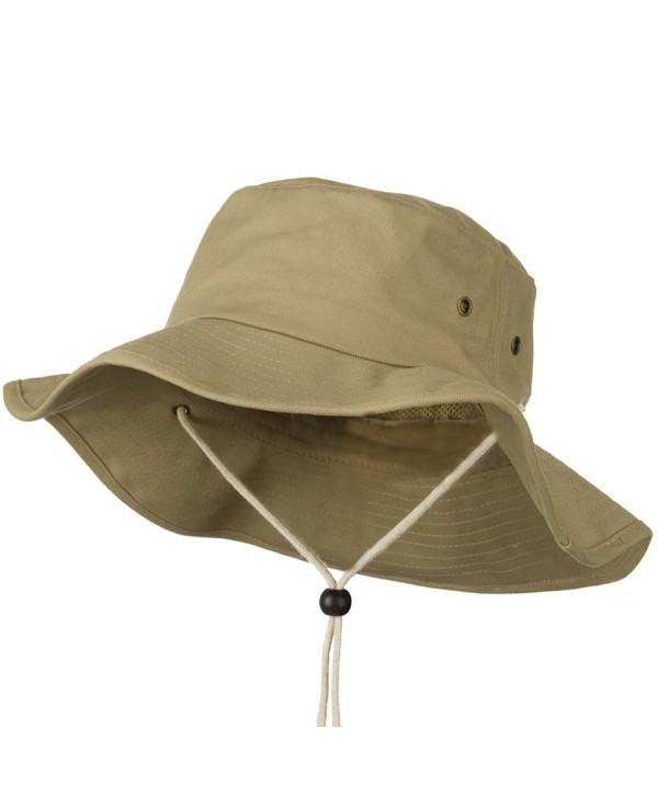 Big Size Cotton Australian Hat - Khaki (For Big Head) - CR110J6BAY1