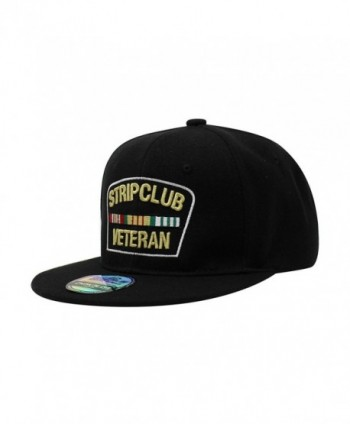ChoKoLids Strip Club Veteran Snapback Dad Hat - Flat Visor Baseball Cap Dad Hat - Sb Black - CF188Z9R68G