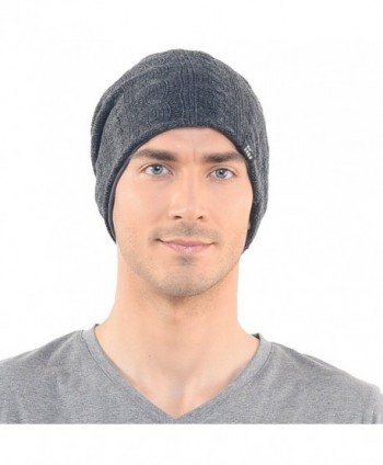 Stylish Cable Slouchy Beanie Unisex in Men's Skullies & Beanies