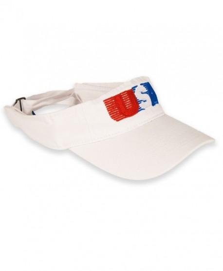 USA Patriotic American Retro Visor - White - CG12HWZAPUL