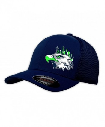 SafetyShirtz Seattle Navy/ Green Flexfit Cap - Navy - CT12CJ8T6CP