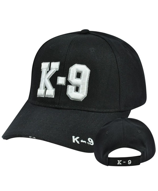 K-9 Police Unit Officer Gear- 3D Embroidered Adjustable Baseball Cap Hat - C312OCACM5I