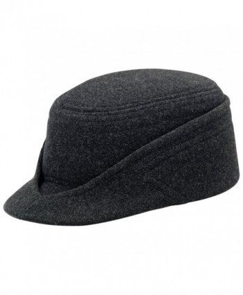 Wool Petersham Winter Traditional Alpine Mountain Cap - CF11OMI4Y2D