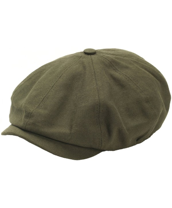 RaOn N18 Men's Fashion Basic Eight Panel Gatsby Style IVY Cap Ascot newsboy Beret Hat - Khaki - CC12ESXPOGL