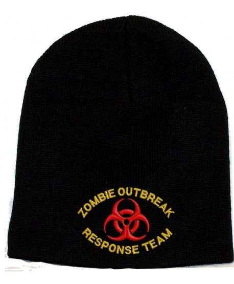 Zombie Outbreak Response Team Embroidered Skull Cap - Black - CG1196SGEIB