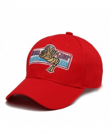 Venbond Unsex Adjustable Bubba Gump Baseball Cap Shrimp Co. Embroidery Hat - Red - CZ187IM46AX