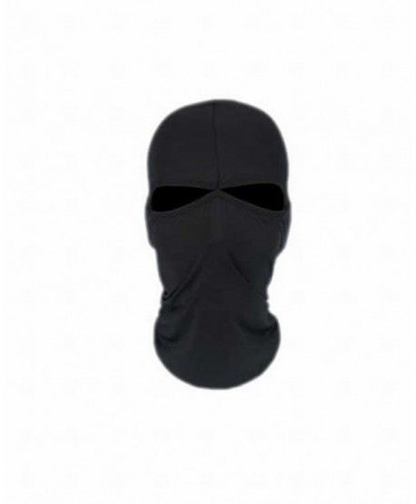 ARRIVE GUIDE Motorcycle Breathable Balaclava Headgear Tactical Running Face Mask - black - C812NTU0JDG