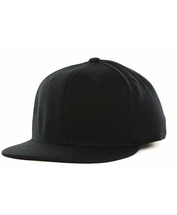 Top Of The World By Lids Stretch Fitted Blank Slam One-Fit Flex Baseball Hat Cap - Black - CO186NOU3WD