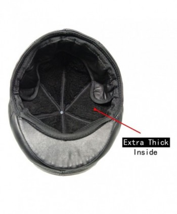 4c9d2ec61f7 Available. TangTown Soft Lambskin Leather Flat Cap Gatsby Newsboy Driving  Warm Winter Ivy Hat ...