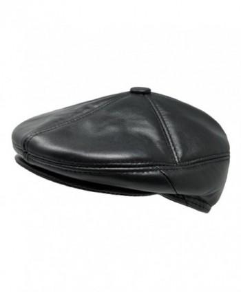 d3ed0d3e130 Available. TangTown Soft Lambskin Leather Flat Cap Gatsby Newsboy Driving  Warm Winter Ivy Hat - Black ...