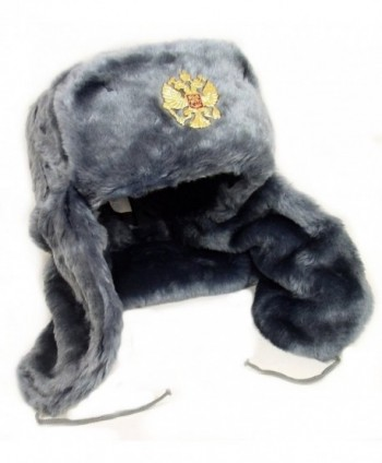 Russian Hat Flaps Gray Ushanka