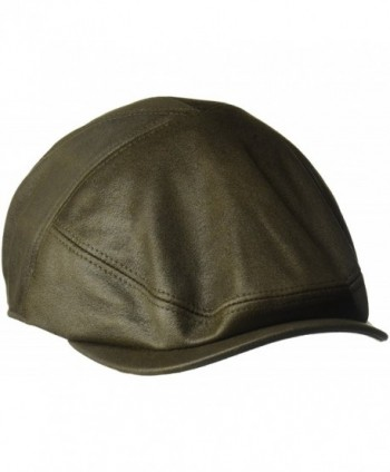 Country Gentleman Men's Parker Palneled Ivy Flat Cap - Saddle - CI11RIBA3XT