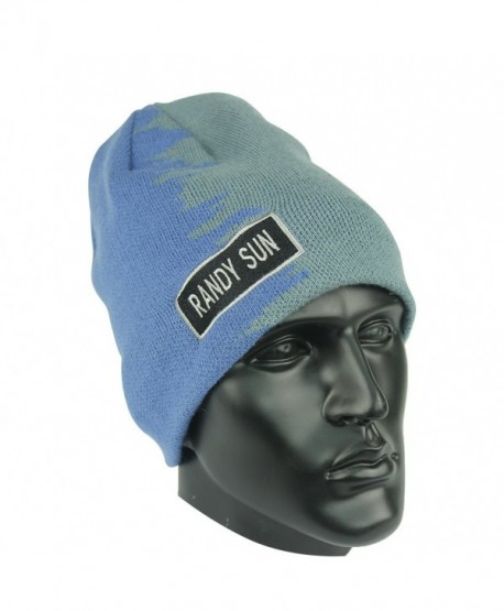 Waterproof RANDY SUN Stylish Beanies - Green And Blue - CT12NA7YDK4