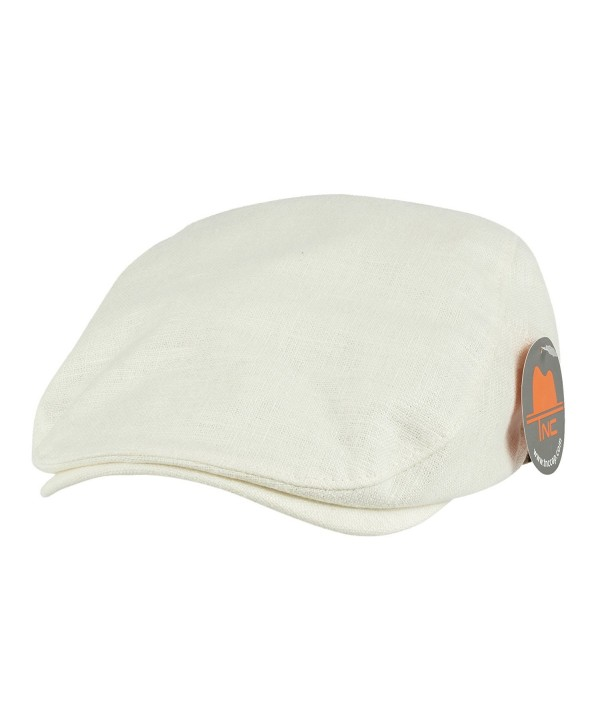 NTC TNC Adjustable Cool Feeling newsboy Cap Ivory - CO12IFHLPOV