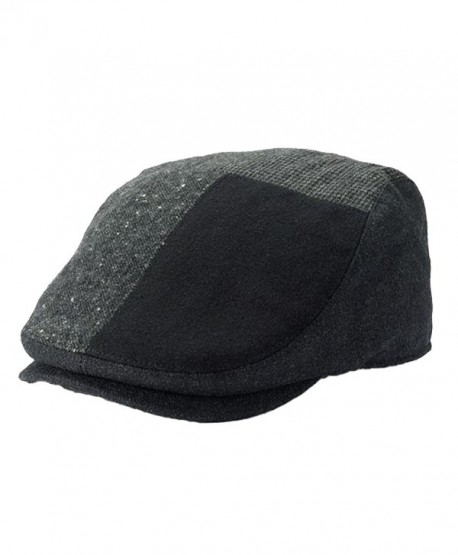 Apt. 9 Men Wool Blend Patch Driver Cap Charcoal Gray Black - C412N9R583Y