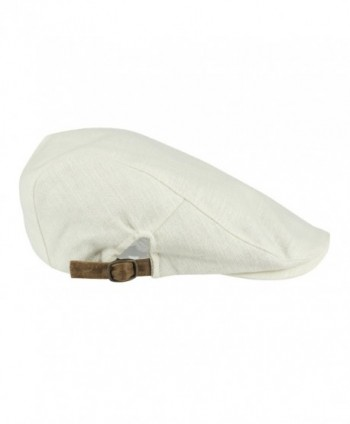 NTC Adjustable Feeling newsboy Ivory in Men's Newsboy Caps