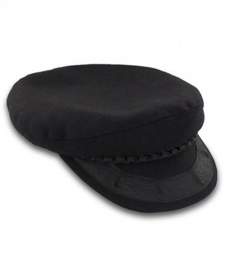 Greek Fisherman's Hat - Wool - Black Size 7 1/8 - C111CJU05SN