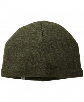 Turtle Fur - Men's N.E. Solid Ragg- Fleece Lined Ragg Wool Beanie - Oregano - C811CXBIWI3