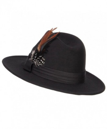 Poly Faux Feather Panama Hat