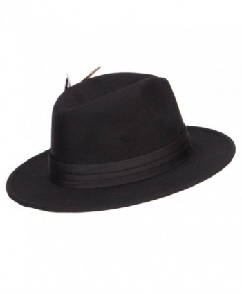 Poly Faux Feather Panama Hat in Men's Fedoras