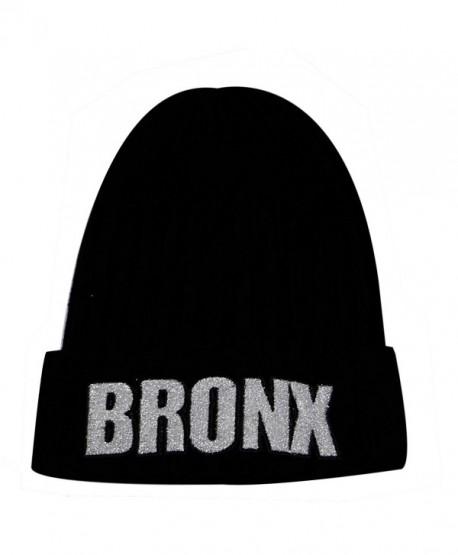 City Hunter Sk1170 Bronx Glitter Patch Beanie Hat - C511PQG7AC5