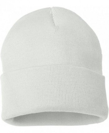 Sportsman SP12 - 12 Inch Solid Knit Beanie - White - CT1180CJTBD