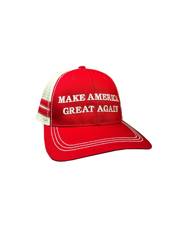 how-z-it Make America Great Again Donald Trump Hat - Vintage Style Red Trucker Hat - C612O3P3AQ2