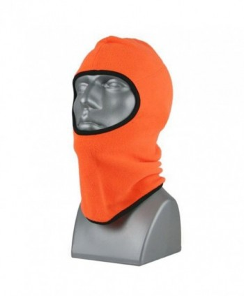 Men's Blaze Orange Balaclava Fleece Winter Face Mask - CX1874G3SN9