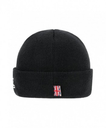 Lonsdale Men%C2%B4s Beanie Black Embroided