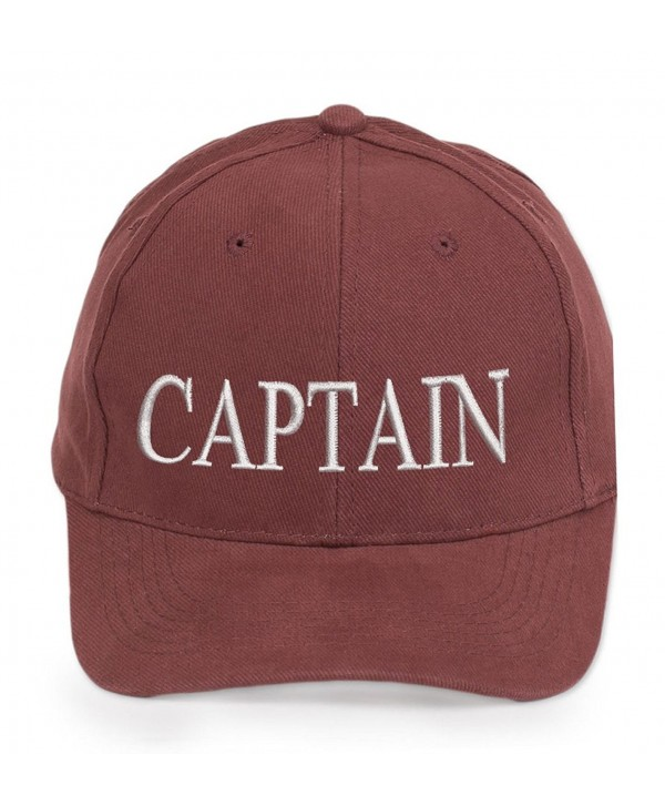 4sold Captain Cabin Boy Crew First Mate Yachting Baseball Cap Inscription Lettering Maroon White - Captain - CQ126O74V9Z