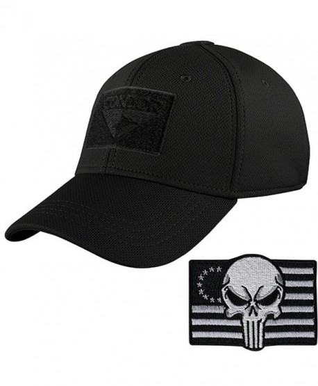 Condor Tactical Flex Cap with Punisher Morale Patch Bundle - Black -  CU12MAH0II2