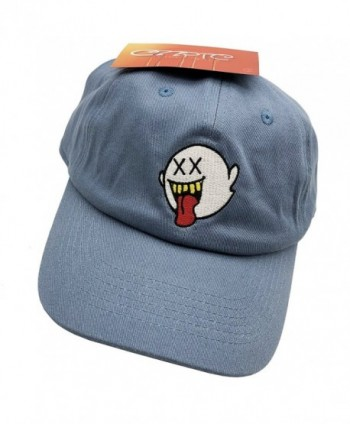 Distressed Boo Mario Ghost Baseball Cap 3D Embroidery Dad Hats Adjustable Snapback - Denim - CT187NATKSW