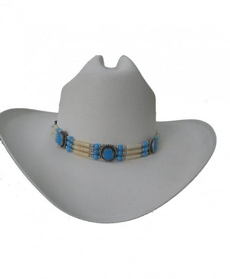 Hat Band or Traditional Bone Choker - CN-011 - Turquoise & Ivory - CO11GKE5QT7