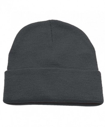 Hatter Unisex Beanie Plain Solid in Men's Skullies & Beanies
