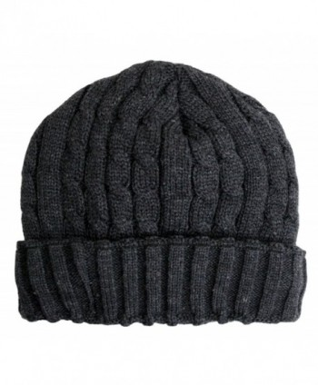 Wonderful Fashion Trendy Winter Warm Soft Beanie Cable Knitted Hat Cap For Women and Men - Charcoal - CR127H066ZF