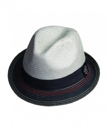Santana Holistic Toyo Pinch/braid Fedora Hat - Grey - CR11JBLC09Z