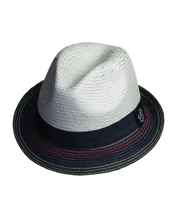 Santana Holistic Toyo Pinch/braid Fedora Hat - Grey - CR11JBLC09Z
