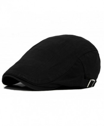 Qunson Mens Cotton Newsboy Hunting in Men's Newsboy Caps