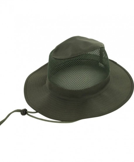 0dee0991edf DealStock Adjustable Zip Tie Men Women Wide Brim Summer Outdoor Hat Cap -  Green Mesh -