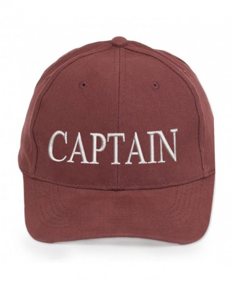 4sold Captain Cabin Boy Crew First Mate Yachting Baseball Cap Inscription Lettering Maroon White - Captain - C8126O74V9Z